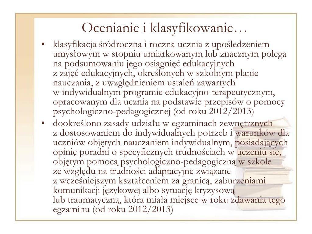 Ocenianie i klasyfikowanie…
