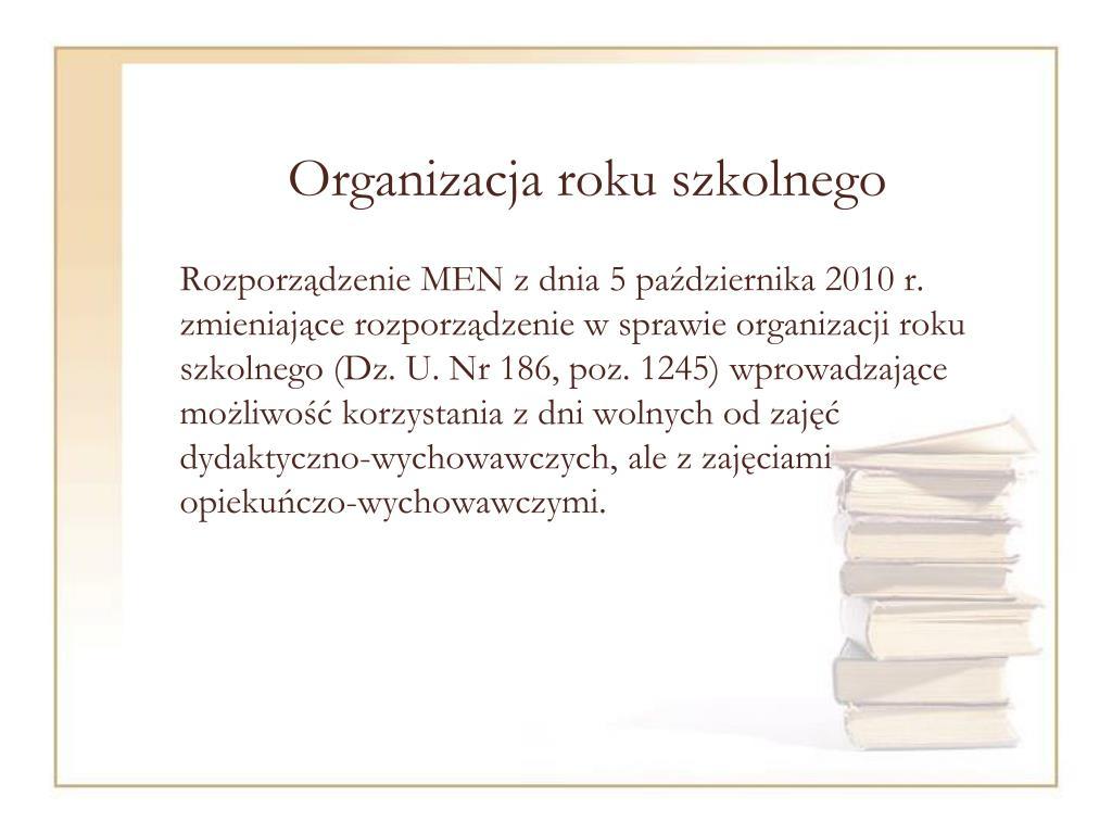 Organizacja roku szkolnego