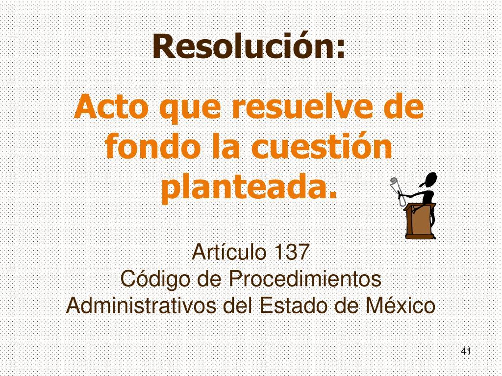 Artículo 137