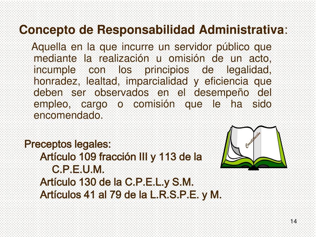 Concepto de Responsabilidad Administrativa