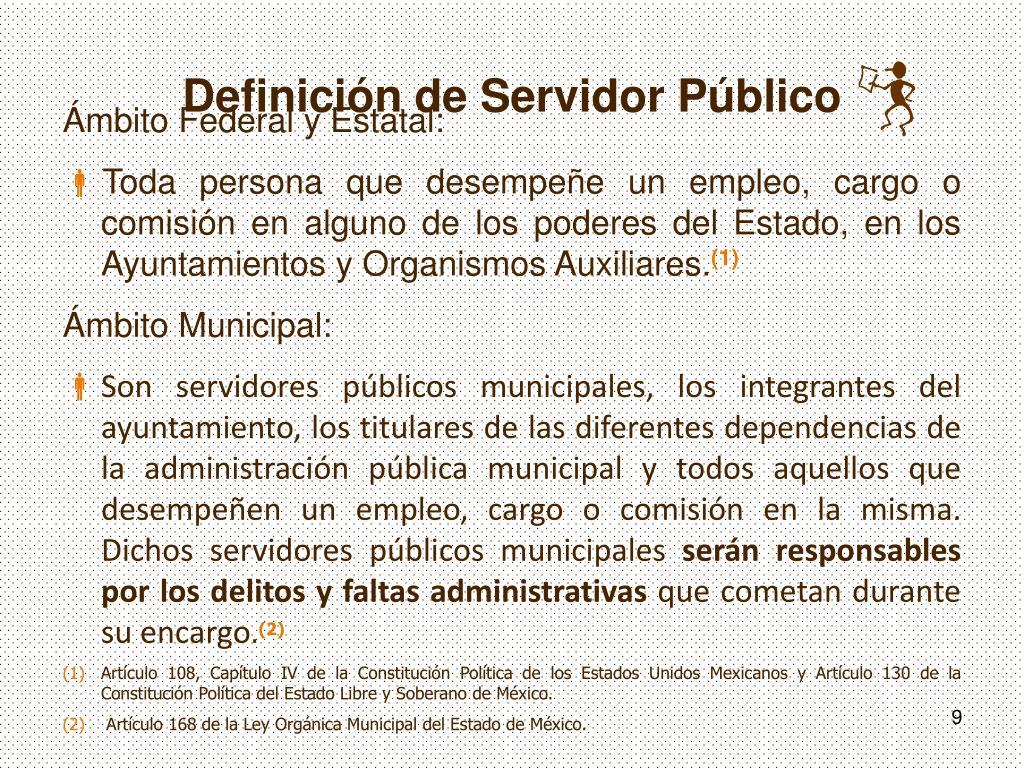 Definición de Servidor Público