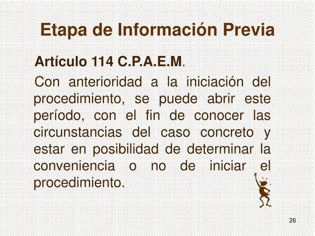 Etapa de Información Previa