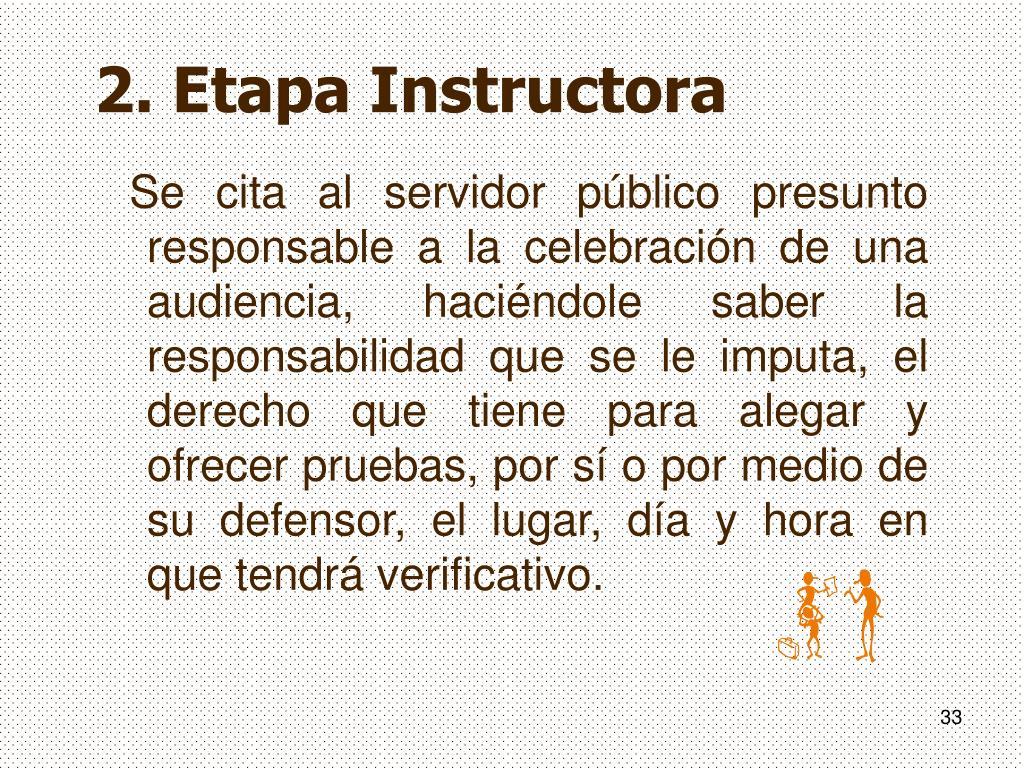 2. Etapa Instructora