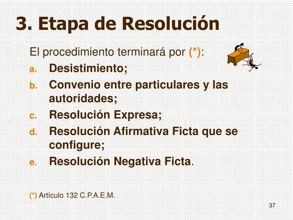 3. Etapa de Resolución