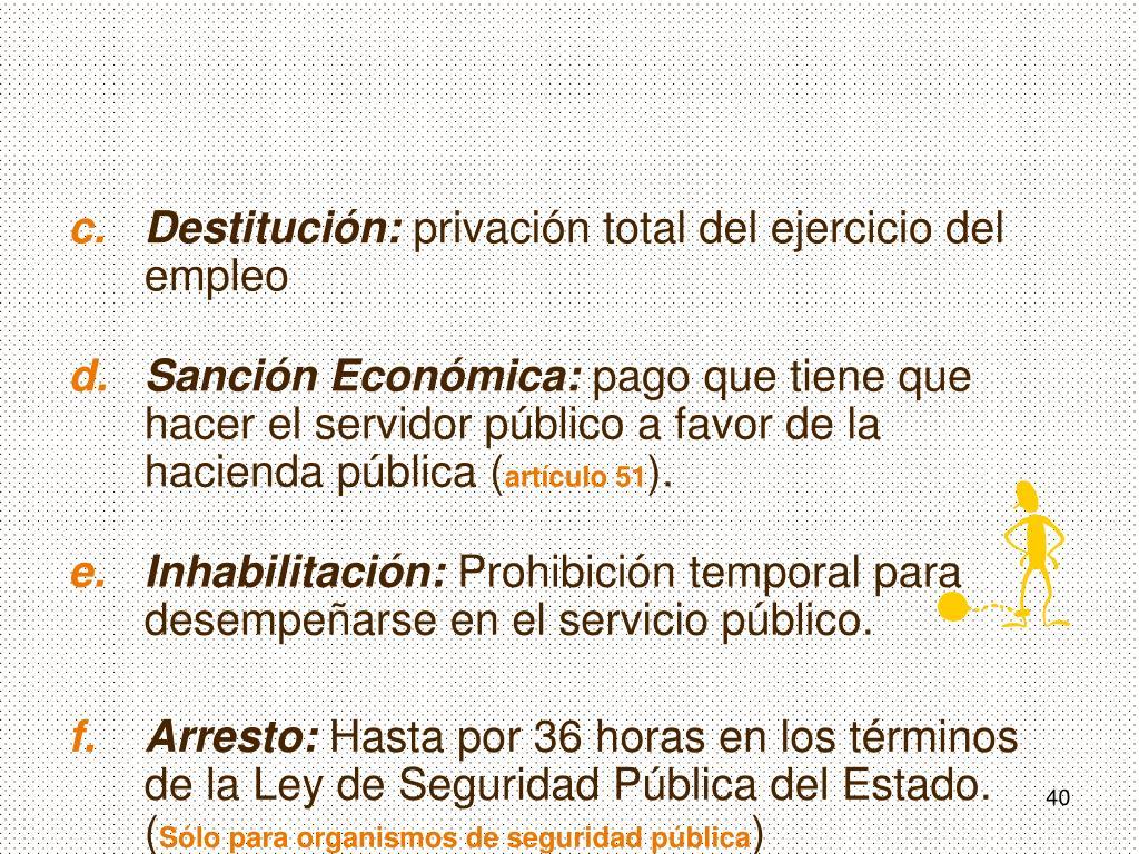 Destitución: