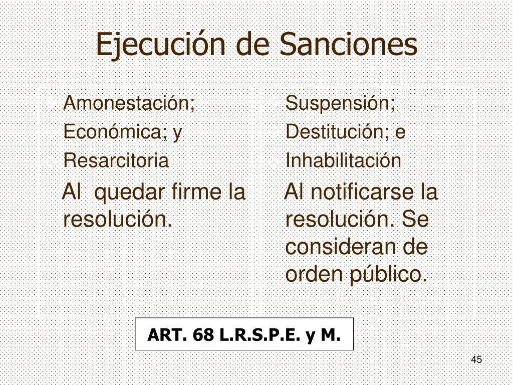 Ejecución de Sanciones
