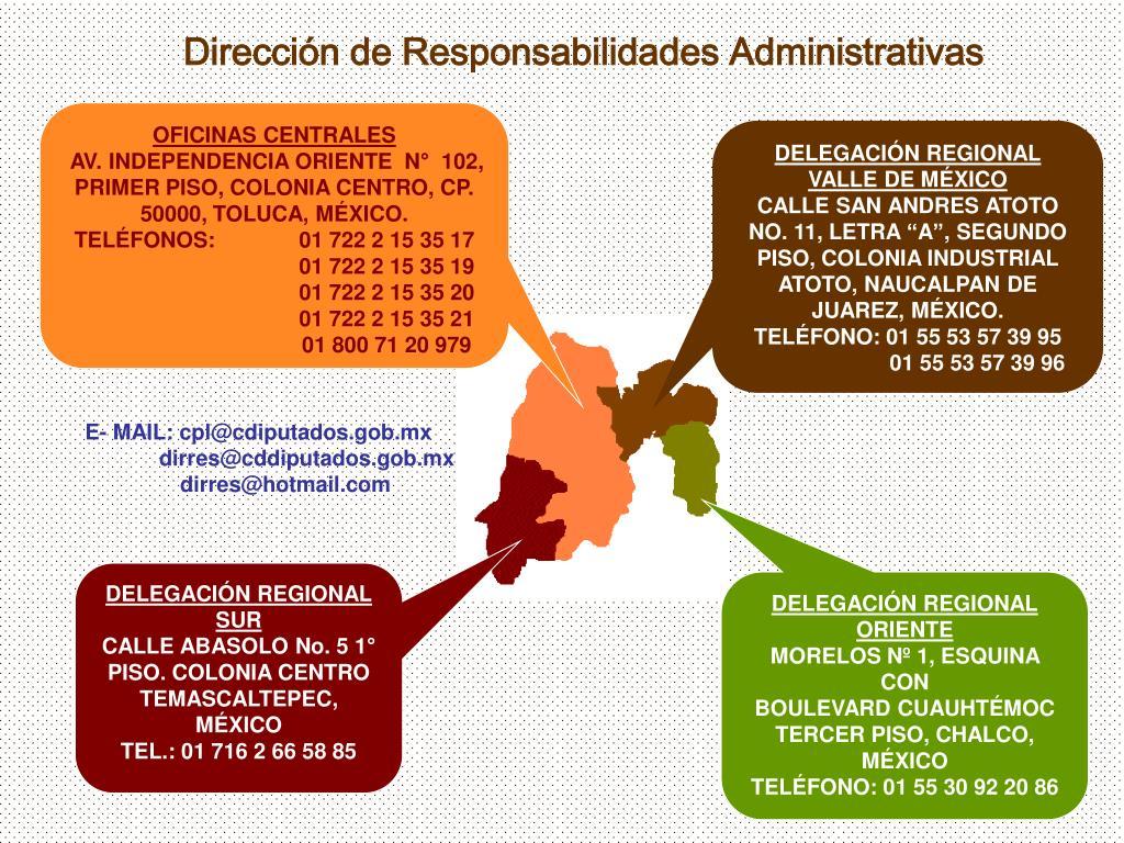 Dirección de Responsabilidades Administrativas