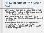 arra impact on the single audit