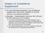 impact on compliance supplement