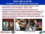 igrid 1998 at sc 98 november 7 13 1998 orlando florida usa