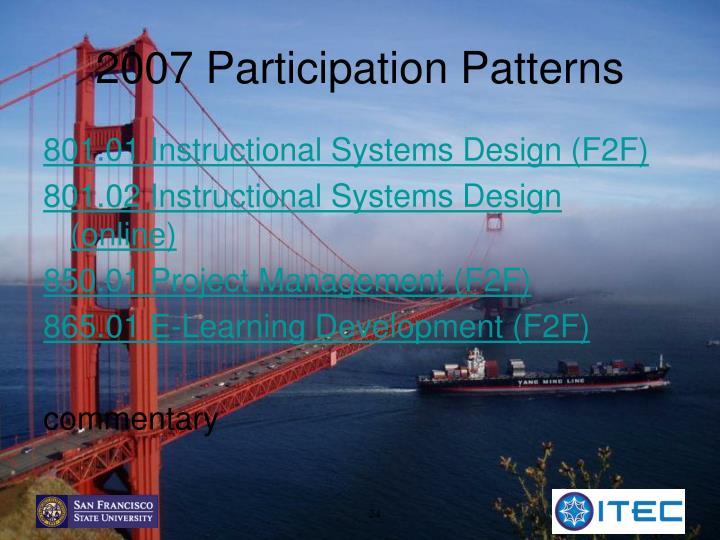 2007 Participation Patterns