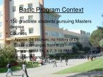 basic program context