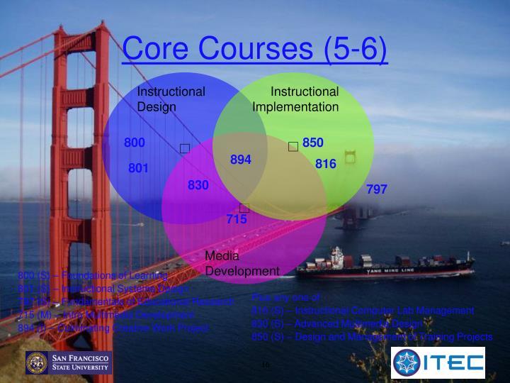 Core Courses (5-6)