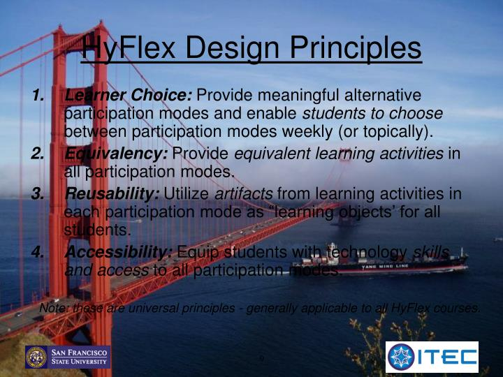 HyFlex Design Principles