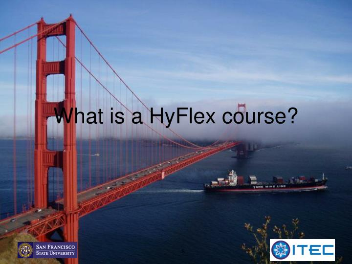 What is a HyFlex course?
