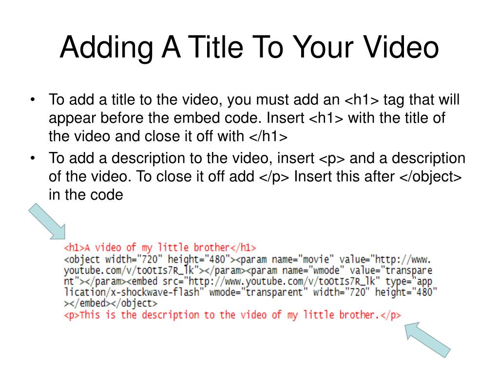 Adding A Title To Your Video