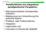 parteifunktionen aus integrations paradigmatischer perspektive