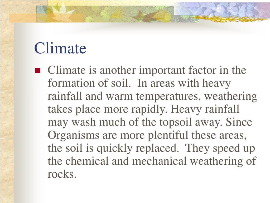Soil formation climate the image kid for Soil formation