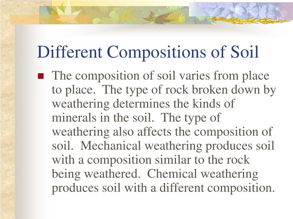 Ppt weathering and soil formation powerpoint for Different uses of soil