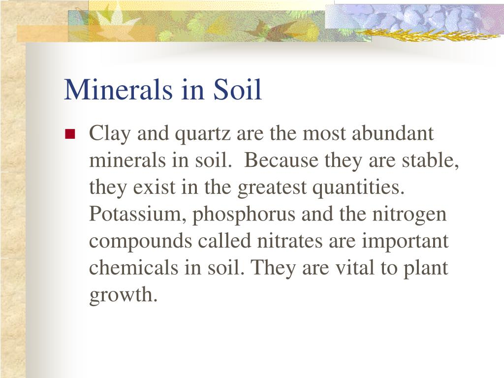 Ppt weathering and soil formation powerpoint for What are soil minerals