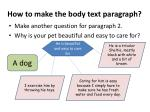 how to make the body text paragraph