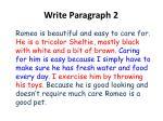 write paragraph 2