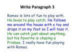 write paragraph 3