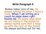 write paragraph 4