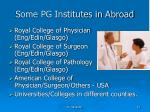 some pg institutes in abroad