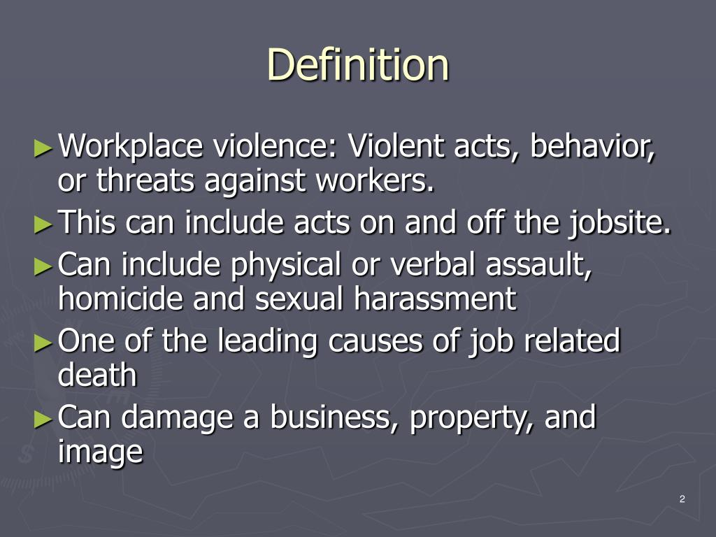 Ppt workplace violence in the construction industry for Definition construction