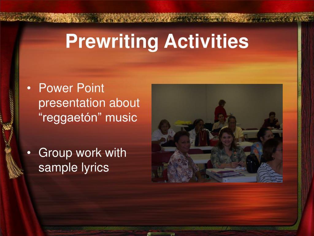 Prewriting Activities