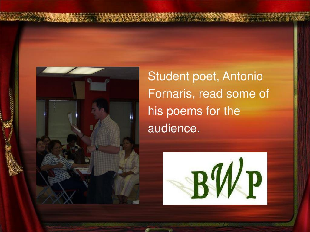Student poet, Antonio