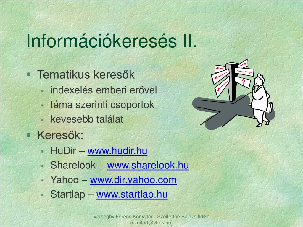 Információkeresés II.