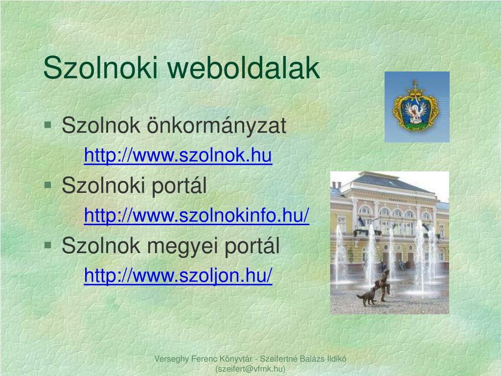 Szolnoki weboldalak