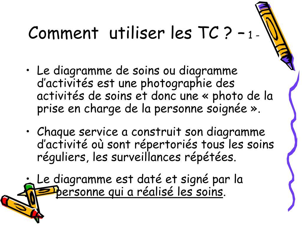Comment  utiliser les TC ? –