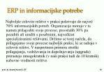 erp in informacijske potrebe