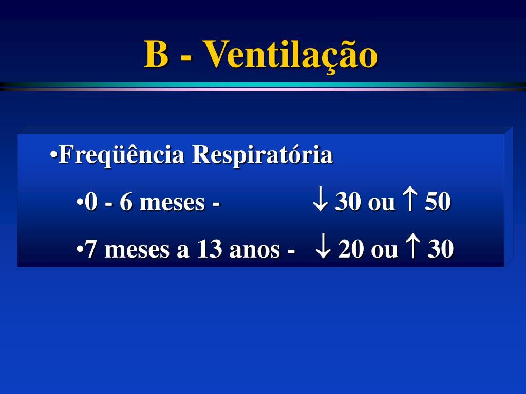 B - Ventilação