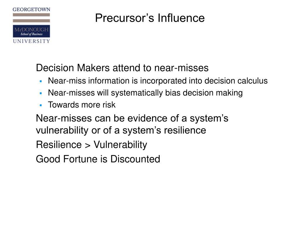 Precursor's Influence