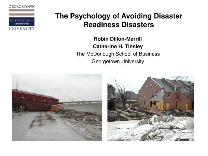 The psychology of avoiding disaster readiness disasters l.jpg