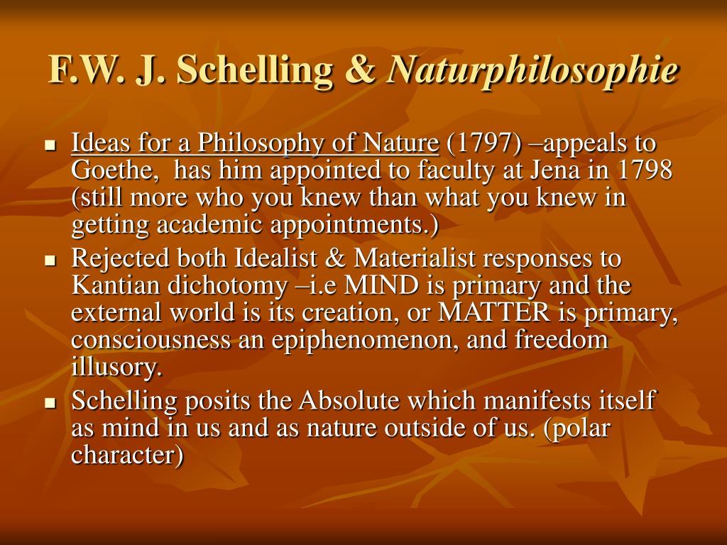 F.W. J. Schelling &