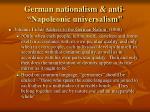 german nationalism anti napoleonic universalism