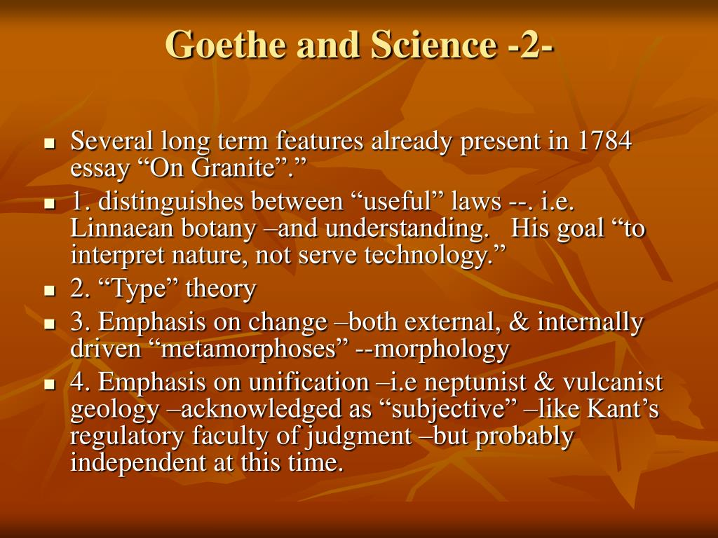 Goethe and Science -2-