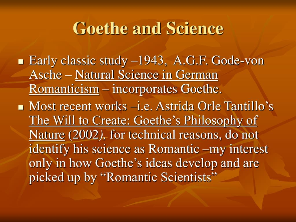 Goethe and Science