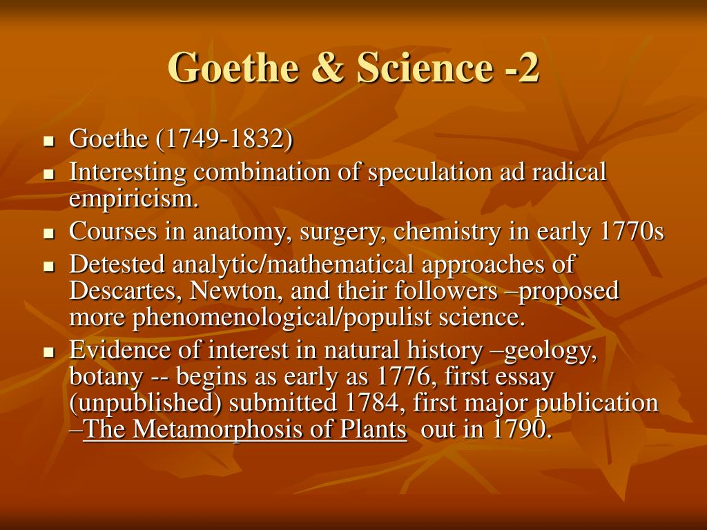 Goethe & Science -2