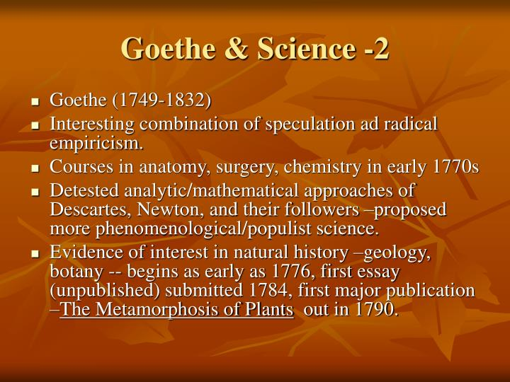 Goethe science 2