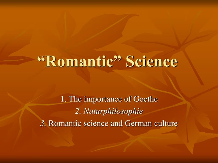 Romantic science