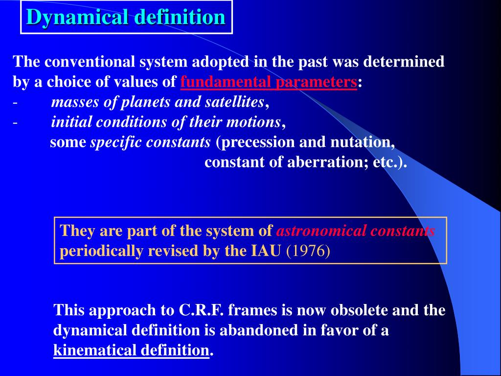 Dynamical definition