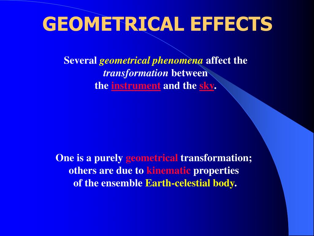 GEOMETRICAL EFFECTS