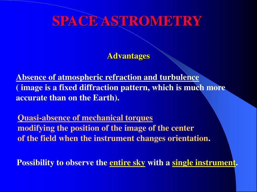 SPACE ASTROMETRY