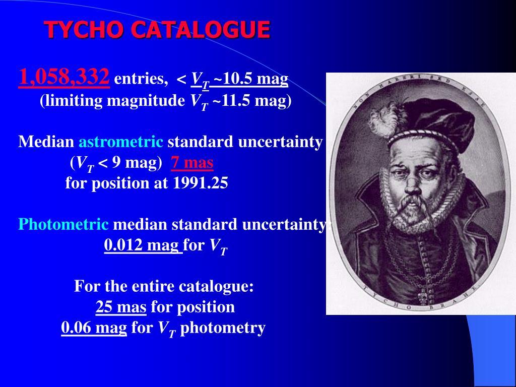 TYCHO CATALOGUE